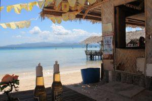 Strand auf puerto princesa mit bier - Was für ein Glück