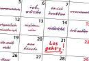Aufschieberitis Prokrastination Kalender