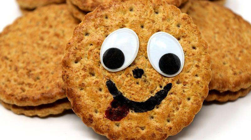 Lachender Keks