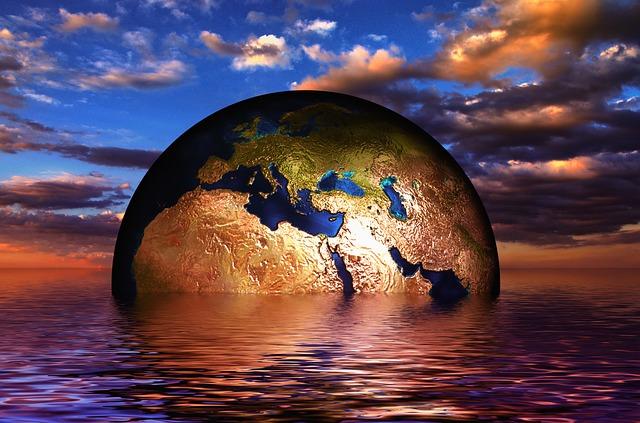 Die Erde versinkt
